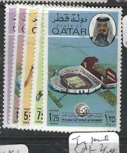 QATAR  (PP1806B)  FOOTBALL SG 586-7, 589-1  MNH