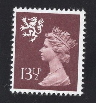 Great Britain Scotland  #SMH23   MNH Q E II  13 1/2 p  Machin