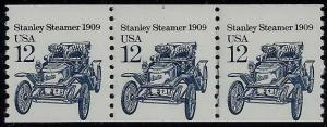 2132 Stanley Steamer Miscut Error PNC3 #1 95% at Top MNH