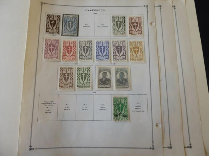 Cameroons 1940-1949 Mint/Used Stamp Collection on Album Pages