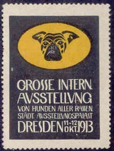 Germany 1913 Dresden Dog Show Poster Stamp