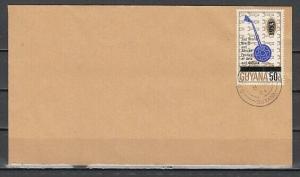 Guyana, Scott cat. 364. Music Instrument value on cover.