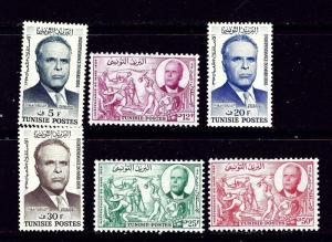 Tunisia 302-07 MLH 1957 set