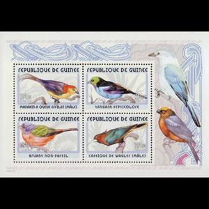 GUINEA 2001 - YV# 3397A S/S Birds NH