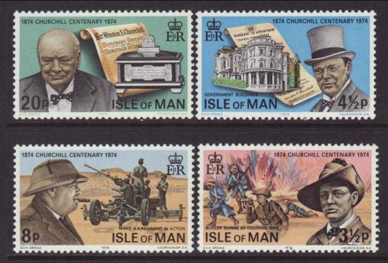 Isle of Man 48-51 Chrurchill MNH VF
