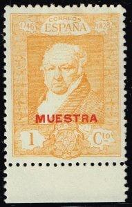 SPAIN STAMP GOYA 1930 1C MUESTRA Specimen ovpt MH/OG STAMP