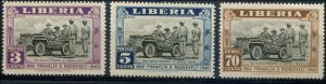 Liberia SC# 296-7, C51 Pres Franklin Roosevelt Memorial set MNH