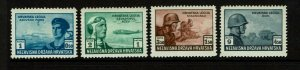 Croatia SC# B33 - B36 Color Trial Proofs MNH (See Notes) - S9601