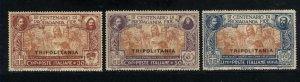 Tripolitania #2-4   Mint NH VF 1923  PD