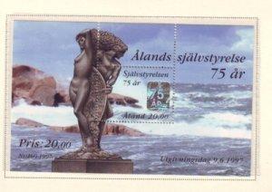 Aland Finland Sc 137 1997 Autonomy stamp sheet mint NH