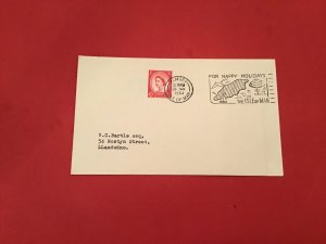 Britain Isle of Man For Happy Holidays  1964 Slogan Cancel Stamp Cover R36035