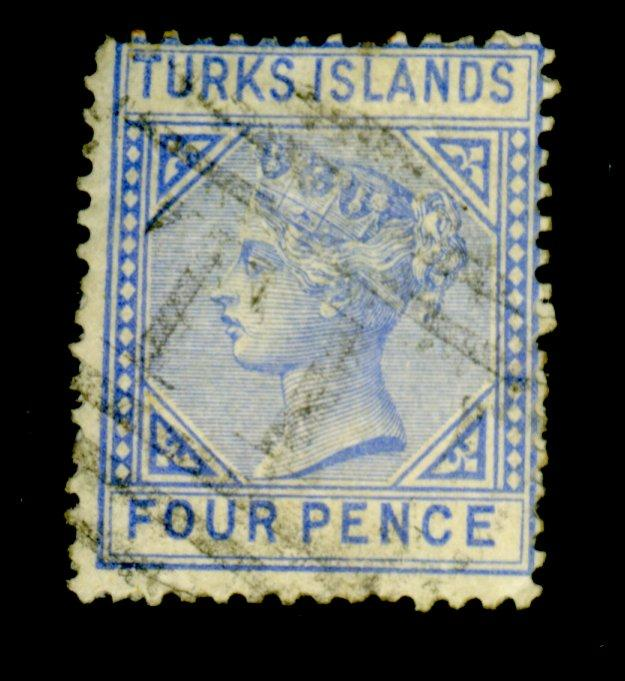 Turks Islands #43 Used Ave-Fine Cat$67.50