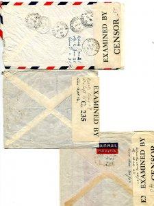 Brqzil  3 covers 1940/41  to  Canada  Censored - Lakeshore Philatelics