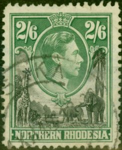 Northern Rhodesia 1938 2s6d Black & Green SG41 Fine Used