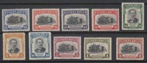 Costa Rica 1948 National Theater Complete Set MNH/ VLM Mint. Scott C168-C177