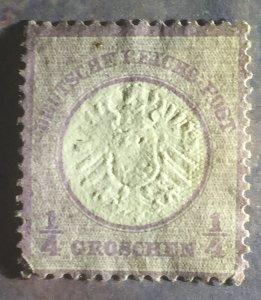 1872, 1/4 gr, Imperial eagle, super nice stamp