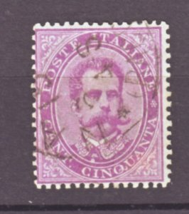 J22519 Jlstamps 1879 italy used #50 king