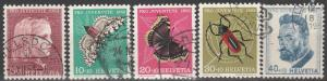Switzerland #B227-31  F-VF Used CV $16.40 (S2427)