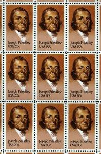 US Scott 2038 Joseph Priestley Full Sheet of 50 Mint NH