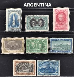 Argentina Scott 160-67  F to VF used.