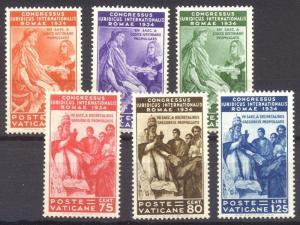 VATICAN #41-46 Mint NH - 1935 Juridical Congress Set