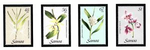 Samoa 637-40 MNH 1985 Orchids