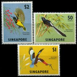 SINGAPORE 1963 - Scott# 66-8 Birds 50c-$2 LH