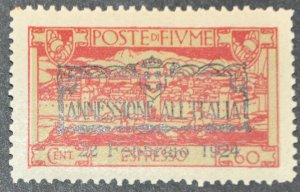 DYNAMITE Stamps: Fiume Scott #E16 – MINT