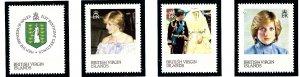 British Virgin Is 430-33 MNH 1982 Princess Diane    (ap1952)