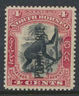 North Borneo SG D16a MLH 4c Opt Postage Due perf 13½ x 14 see details & scans