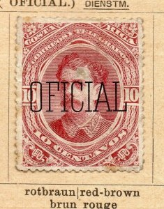 Costa Rica 1899 Early Issue Fine Mint Hinged 10c. Surcharged Optd NW-09197