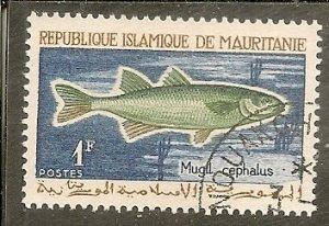 Mauritania  Scott 177   Fish   CTO