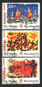 Spain. 1992. 3030-32. Pre-Olympic edition, Barcelona. USED.