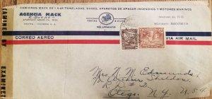 O) 1950 CIRCA - COLOMBIA, CENSORSHIP, COLONIAL BOGOTA 60c- ARCHITECTURE 5c,TEL