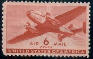#C25 6¢ TRANSPORT PLANE AIRMAIL, LOT 400 MINT STAMPS SPICE YOUR MAILINGS!