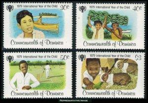 Dominica Scott 613-616 Mint never hinged.