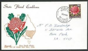 AUSTRALIA 1960 30c Waratah commem FDC......................................64635