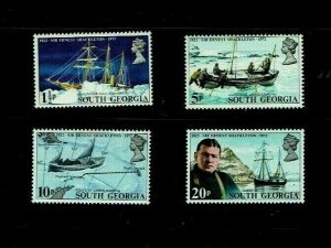 South Georgia: 1972, 50th Anniversary Death of Sir Ernest Shackleton,  MNH set