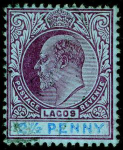 NIGERIA - Lagos SG57, 2½d dull purple & blue/blue, FINE USED. Cat £16.
