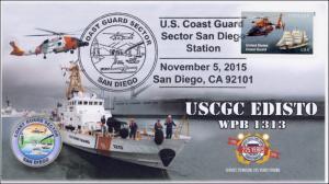 2015, US Coast Guard, Sector San Diego CA, USCGC Edisto, 225th Aniv,   15-316