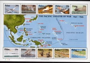 PALAU 299 MNH S/S SCV $8.50 BIN $5.10 Pacific Theater of War