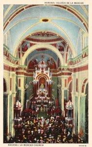 Cuba Postcard Havana La Merced Church Unused Vintage