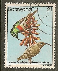 Botswana     Scott  304    Bird     Used