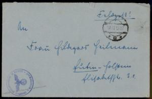Germany WWII UBoot U389 Submarine Feldpost Commander Heilman SIGNED LETTER 78050