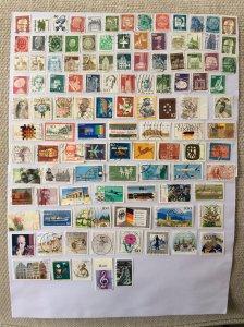 German 100+ stamps - Lot J