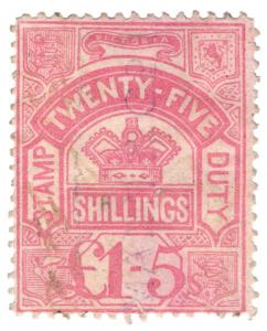 (I.B) Australia - Victoria Revenue : Stamp Duty £1 5/-