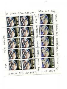 Gibraltar 1984  Europa sheets Mint VF NH - Lakeshore Philatelics