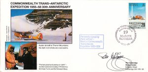 British Antarctic Territory FDC Sc 147 Signed Peter Jeffries Cachet Auster ai...
