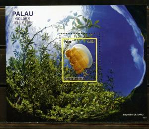 PALAU 2019 GOLDEN JELLY FISH SOUVENIR  SHEET  MINT NEVER HINGED