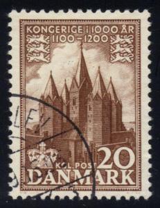 Denmark #344 Church of Kalundborg, used (0.25)